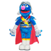 flying super grover street swooping delivering