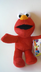 elmo sesame street plush zipper chain