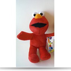 Save Elmo By Plush Zipper Key Chain 5 Inches
