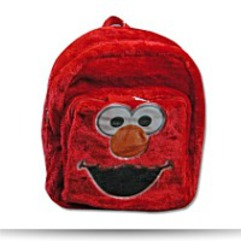 Save Elmo Furry Plush Backpack Mini Size