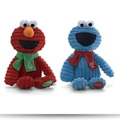 Holiday Corduroy 11 Elmo And Cookie Monster